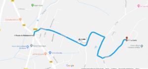 Cliquer sur l'image pour afficher l'itinéraire dans google map.